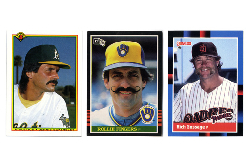 The three closers' baseball cards.
